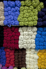 ROWS OF COLORFUL YARN 003