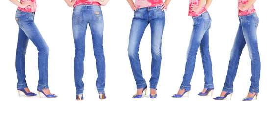 Lower than a belt - stylish women's clothing. Jeans.