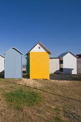 cabines de bain sur la plage de Saint Denis d'Oléron.