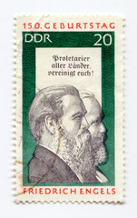 Friedrich Engels on East Germany postage stamp