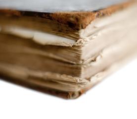 coin de vieux livre usé