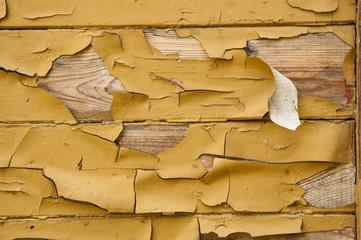 Obraz Odpryskująca farba z drewna - fototapety do salonu