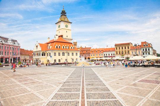 The Council Square in  Brasov, Romania.