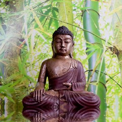 Buddha mit Bambus