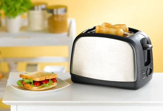 Modern design of bread toaster great for modern kitchen