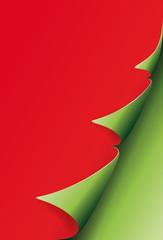Ecke Weihnachtsbaum auf Rot