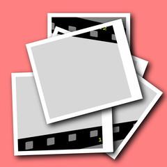 photo with blank film strip frame