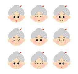 表情 祖母