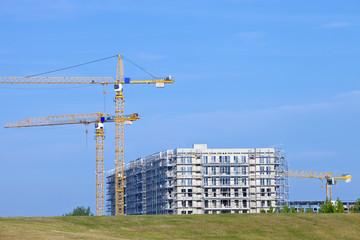 Baustelle Kran