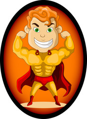 Poster Superheroes strong super hero