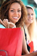 Girlfriends on a shopping trip