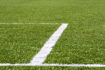 Linie auf dem Fußballfeld