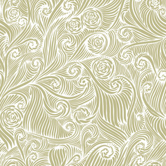 Floral seamless pattern, vector background.