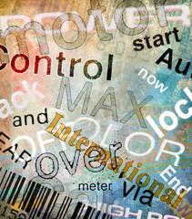 Words grunge background