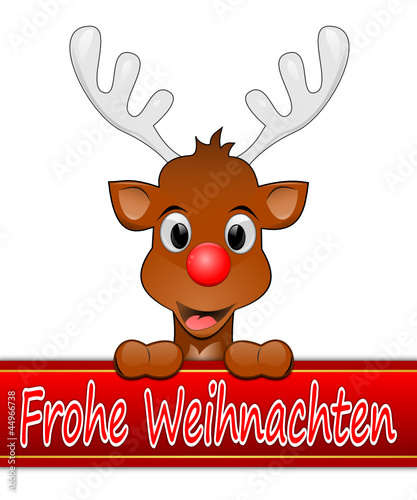 rentier rudolph w nscht frohe weihnachten stockfotos und. Black Bedroom Furniture Sets. Home Design Ideas