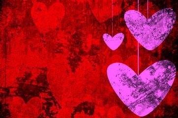 Heart on Grange background