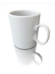 3d render of white cup