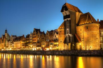 Obraz Gdańsk nocą - fototapety do salonu
