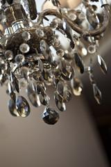 Lustre, suspension, cristal, pampilles, chandelier, décoration