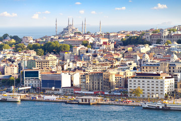 Crowded city of istanbul