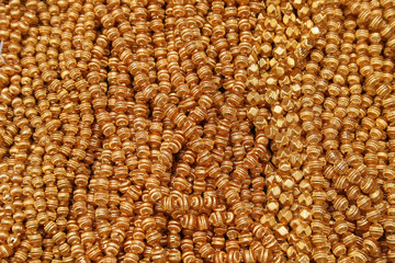 Gold Beads at the Otavalo Market