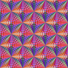 Photo sur Aluminium Psychedelique Seamless Psychedelic Pattern