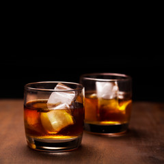 Rum on the rocks