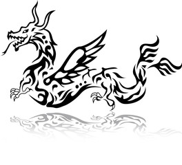 dragon tattoo tribal