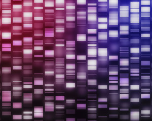 Pink and purple DNA strands