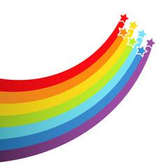 Background with rainbow stars. Vector illustration.