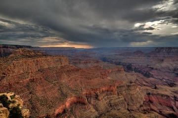 Foto op Aluminium Koraal Grand Canyon before storm