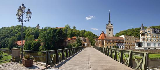 Gera panorama osterstein, sankt marien church, bridge