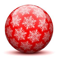 Kugel, Schneeflocken, abstrakt, Dekoration, Rot, Glaskugel, XMAS