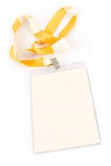 Blank ID card tag