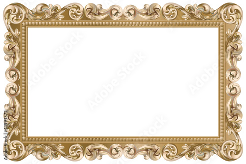 "Cadre Baroque Rectangulaire Doré"" Stock Image And Royalty-Free"