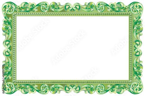 cadre baroque rectangulaire vert fichier vectoriel libre de droits sur la banque d 39 images. Black Bedroom Furniture Sets. Home Design Ideas