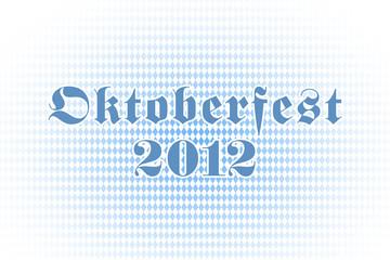 Oktoberfest Schrift auf Rautenhintergrund