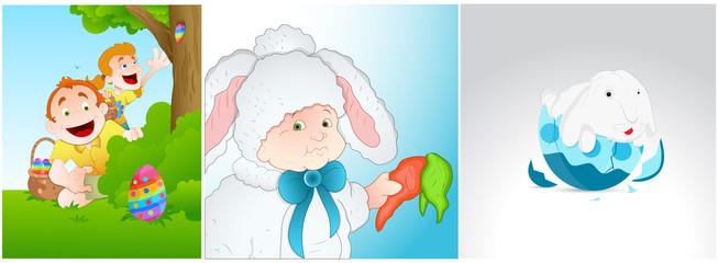 Easter Background Illustrations