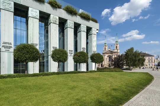 Supreme Court building in Warsaw