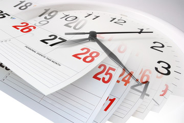 Calendar Pages and Clock