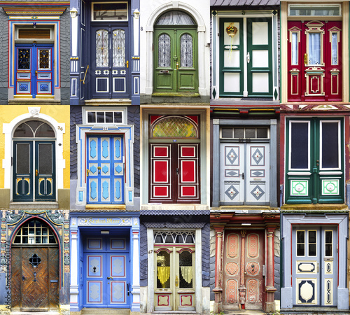 Fototapete Collage of the Goslar doors.
