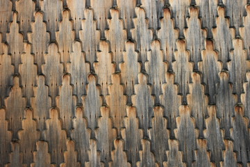 Wooden wall on church
