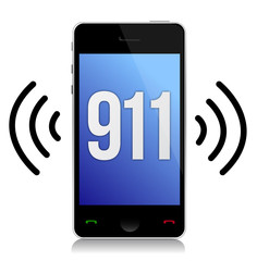 Emergency number 911 call illustration design over white