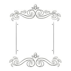 grunge flowers frame silhouette