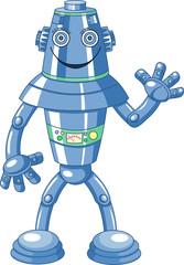 Spoed Foto op Canvas Robots Cute cartoon robot