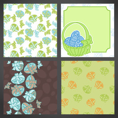 Set of vector easter backgrounds, lots detail!