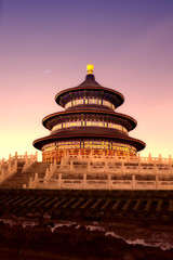 Spoed Foto op Canvas Beijing night view of beijing Temple of Heaven