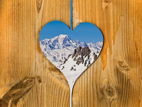 Mont-Blanc, coeur en bois