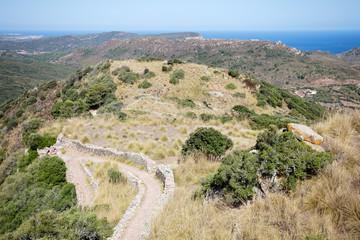 Blick vom Castell de Santa Agueda - Spanien
