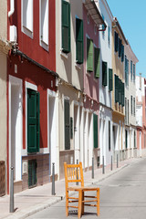 Spanien - Menorcas Hauptstadt - Gassen von Mao